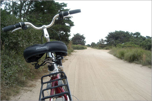 Bicycling is a popular way to take a relaxing tour of Nantucket's many remote roads and paths.