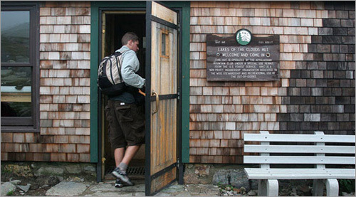 Built and operated by the Appalachian Mountain Club, the Lakes of the Clouds hut is part of a network of huts (there are eight in all) that stretch along the Presidential Range. The huts were initially designed for through hikers who are traveling along the Appalachian Trail (the AT runs through the Presidential Range on its way to Maine), but today the huts welcome all hikers. The Lakes of the Clouds hut has a capacity of 90 people, and it's almost always full.