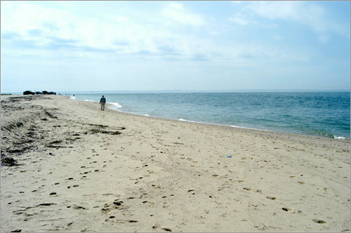 Perhaps one of the most exclusive public beaches in Nantucket, Great Point Beach is on the northern tip of the island. This beach is accessible only by four-wheel-drive vehicles with the proper permit. Here you will find an equal number of beach goers and fisherman, both of whom take advantage of the lack of crowds and panoramic view of the water surrounding the peninsula.