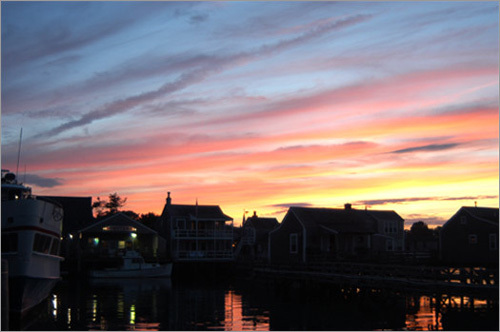 The sunsets on Nantucket are part of the charm and summer beauty of the island.