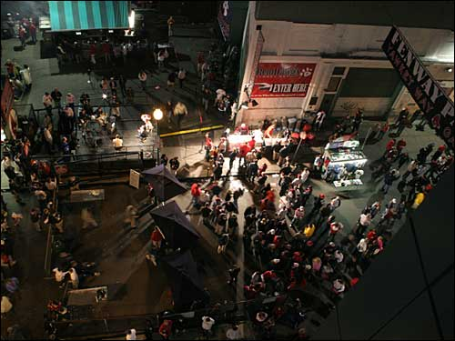 Yawkey Way scene from above
