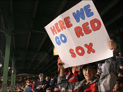 Sign, 'Here we go Red Sox'