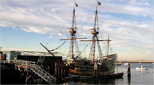 The Mayflower II was built in England in the 1950's as a replica of the original Mayflower, which carried Pilgrims from England to the U.S. in 1620.