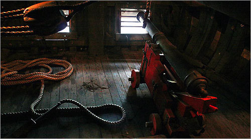 A replica of the original Mayflower's weapons, for defense against anyone they may encounter when crossing the Atlantic.