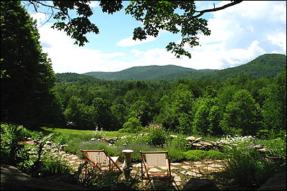 A view from the Pond House Inn in Brownsville, Vt.