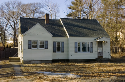 This home at 342 Townsend St. in Fitchburg is a one-family Cape Cod