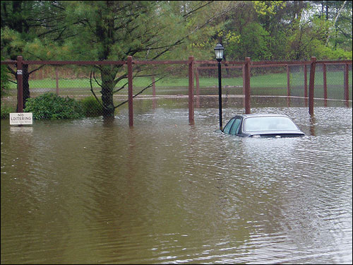 Rob Mathias took this photo of the parking lot at Williamsburg Condominiums in North Chelmsford.