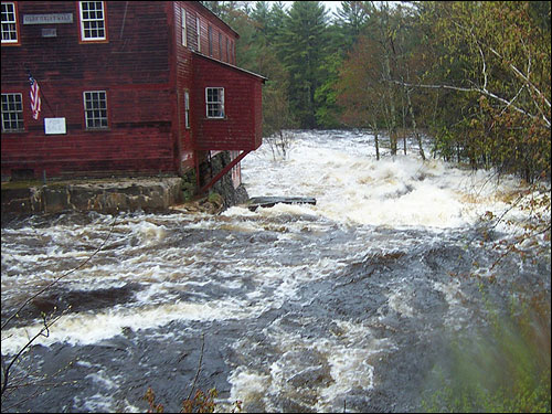 Kyle Surette captured the raging waters of the Little River in Lebanon, Maine.