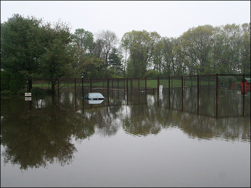Owen Mullin sent this photo that his sister took of a flooded area in North Chelmsford.
