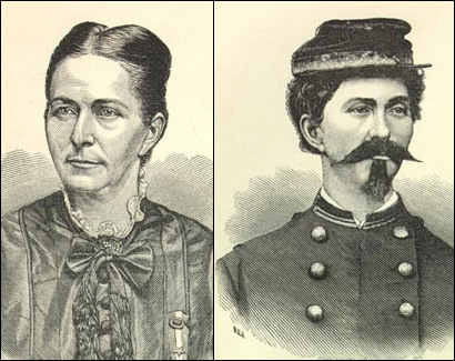 Loreta Janeta Vasquez, disguised as Lieutenent Harry Buford (right), served at the