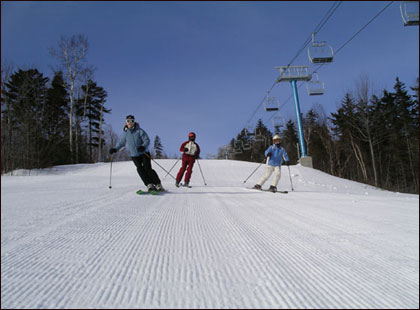 What makes a great family ski vacation? Different families have different needs and varying speeds, ever changing as the kids grow from small to tall. Here are ten very different resorts (in alpha order), each capable of serving up a fabulous family ski trip. Flip through to find one that sounds best for you and your crew this winter. www.familyskitrips.com 1. Ascutney Mountain Resort in Ascutney, Vt. Ascutney Mountain Resort is a condensed ski area and slopeside village that doesn't get all the accolades its neighboring Vermont resorts do… and that can be a good thing. Ascutney is proof you don't need a cruise ship roster of programs to be successful; with just enough stuff to keep everyone in the family happy. Ascutney has borrowed some key programming from Smugglers' including a 'cheesy' mascot mouse named Cheddar, Duckling Daycare for the little ones, Young Olympians ski and ride camps for ages 4-12, and a recently added Bumps Center for teens to hang out at after the lifts stop. While Ascutney is neither vast nor venerable, families will enjoy that it is manageable, and ski and stay packages in the Hotel and surrounding condominiums are affordable, and include use of the Fitness Center and Pool.