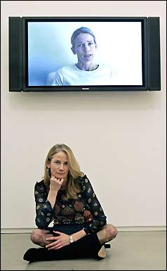 In her video 'Karaoke Wrong Number,' Rachel Perry Welty lip-synchs, to comical effect, messages left by mistake on her telephone answering machine.