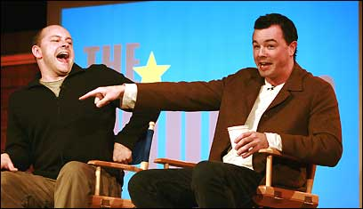 Rob Corddry and Seth McFarlane in Aspen, Colo.