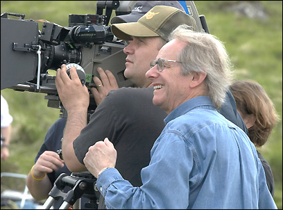 Ken Loach with Carl Hudson
