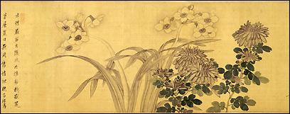 'The Three Hermits: Plum, Chrysanthemum, and Narcissus'