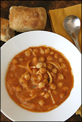 pasta e ceci (pasta and chickpea soup)