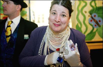 Jill Kolva, a.k.a. Ivana More-Enmore, of Billionaires for Bush