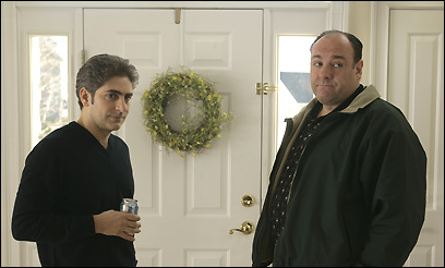 James Gandolfini (right) stars as Tony and Michael Imperioli is Christopher in 'The Sopranos'
