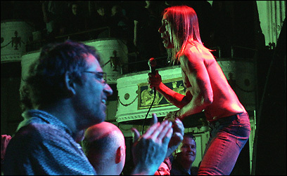 Iggy Pop and the Stooges played a sold-out show at the Orpheum
