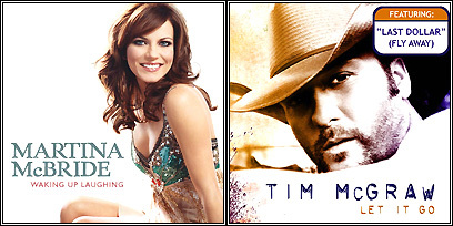 Martina McBride's 'Waking of Laughing' and Tim McGraw's 'Let It Go'