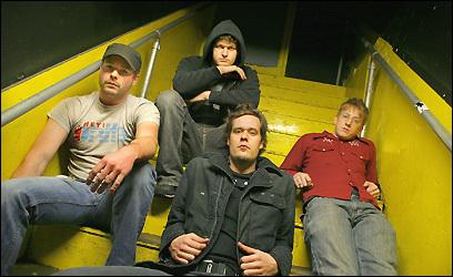 From left, Chris Friedrich, Joe Vickers, Philip Jamieson, and Calvin Joss of Caspian