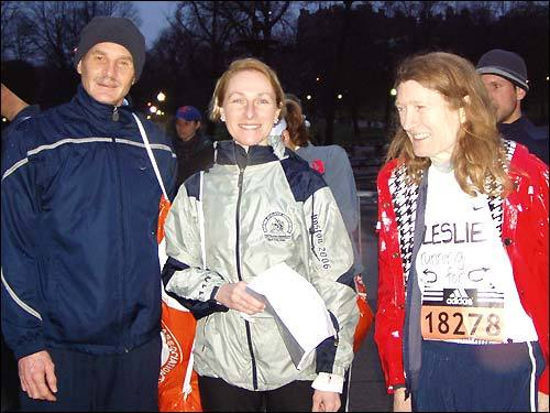 Bill Ackley of Puyallup, Wash.; Chris Feierabend of Madison, Wis.; and Leslie Veenstra of Bend, Ore., had a simple motivation for running. As Chris said, 'Once you've qualified for Boston, you've got to run!'