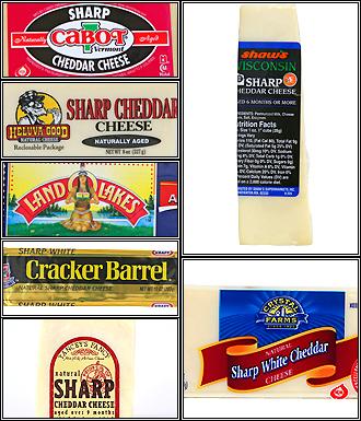 sharp white cheddar. cheeses sharp white cheddar p