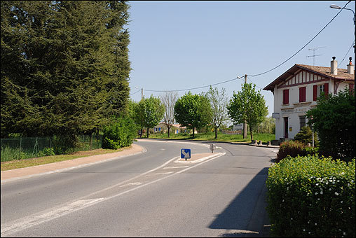 As an assistant to the president, Romney would accompany Anderson on his visits to the various church branches, and on June 16, 1968, Romney drove Anderson and his wife, along with a French Mormon couple and another missionary, to visit a congregation in Pau. On the way back to Bordeaux, they were in a tragic accident on this spot in the village of Bernos-Beaulac, south of Bazas.