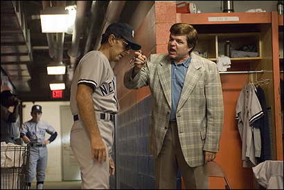 John Turturro (left) as Billy Martin and Oliver Platt as George Steinbrenner in 'The Bronx is Burning.'