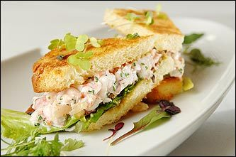 L'Espalier's lobster-filled 'BLT'