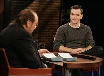 Matt Damon and James Lipton
