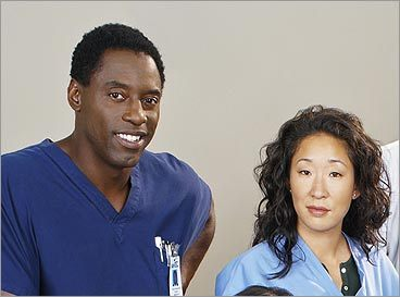 Burke and Cristina on 'Grey's Anatomy'