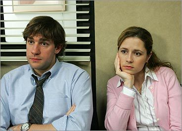 Pam and Jim on 'The Office'
