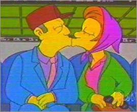 Principal Skinner and Ms. Krabappel on 'The Simpsons'