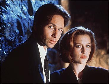 Mulder and Scully on 'The X-Files'
