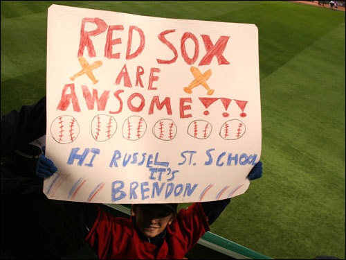 Brendon, from Ayer, wanted to give a shout out to his classmates and teachers back in Ayer.