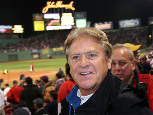 Giant Glass owner Dennis Drinkwater, the man you see seated behind home plate every night, was hoping for a better outing from Curt Schilling. Drinkwater's prediction of a 5-2 Red Sox win fell a bit short on a long night.