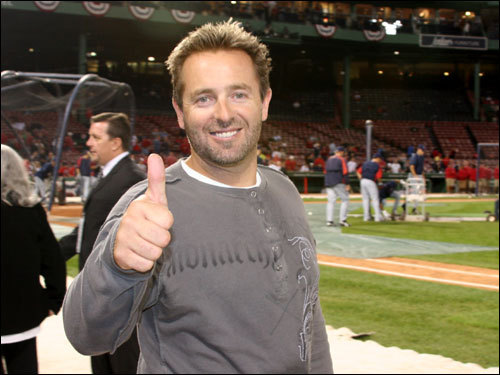 Kevin Millar was excited to throw out the first pitch before Game 6. 'This will be fun,man,' Millar said.