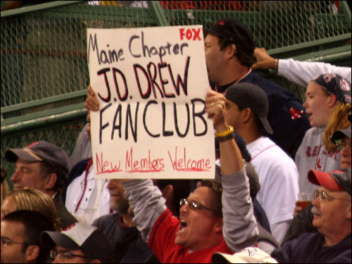 J.D. Drew gets one big hit. Now there are fan clubs sprouting up across the Nation. Will J.D. Nation be as big as RemDawg Nation someday?