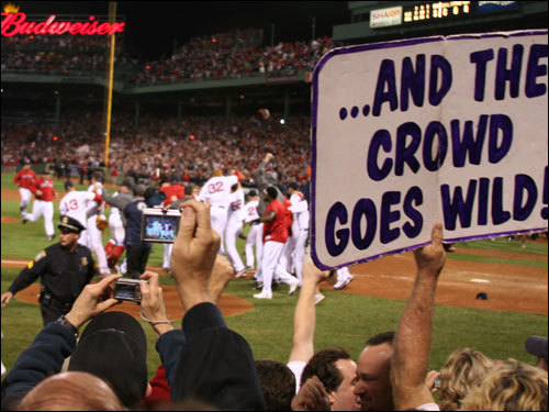 The sign says it all after the Sox made the final out.