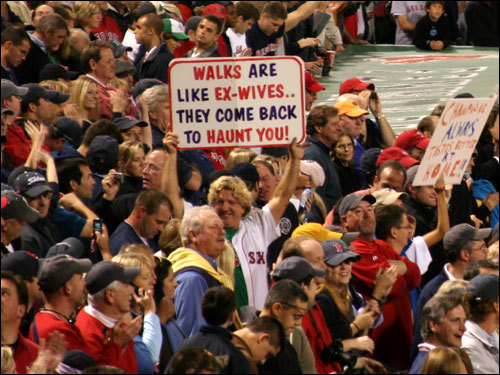 There were all kinds of clever signs at Fenway for Game 7.