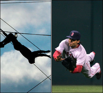 Current job: Red Sox outfielder Could have been: Trapeze artist He has the timing, agility, and utter lack of fear in the face of danger. Whether it's going all-out for a fly ball with a wall fast approaching, or gliding upside-down with catching a human body his charge, Coco wouldn't let either drop from his grasp.