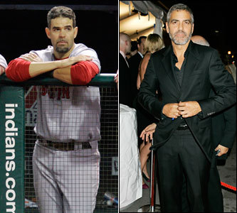 Current job: Red Sox third baseman Could have been: Actor OK, we admit we chose this one because he bears a more-than-slight resemblance to George Clooney. But even if he didn't have the acting chops to land a role in 'Ocean's Eleven' or 'ER,' at least he could be a recurring character on a soap opera. The brow says so.