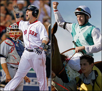 Current job: Red Sox second baseman Could have been: Jockey He's listed at 5-foot-9, 180 pounds... maybe a little too big to ride a championship pony. But during Fox's coverage of the ALCS, Joe Buck and Tim McCarver passed along an anecdote from Dustin that he's actually 5-foot-2, 120 pounds. Hey, those are jockey numbers! We think he's got the attitude, concentration, and diminutive size to at least place in the Kentucky Derby. And it would finally give him bragging rights over Kevin Youkilis about who's faster.