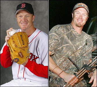 Current job: Red Sox relief pitcher Could have been: Big game hunter The camo T-shirts. The great aim. The love of the outdoors. In fact, Timlin's love of the hunt is no secret, and was documented in this 2006 article by the Globe's Stan Grossfeld. Thousands of wild animals are perfectly happy that Mike has had a long and successful baseball career.