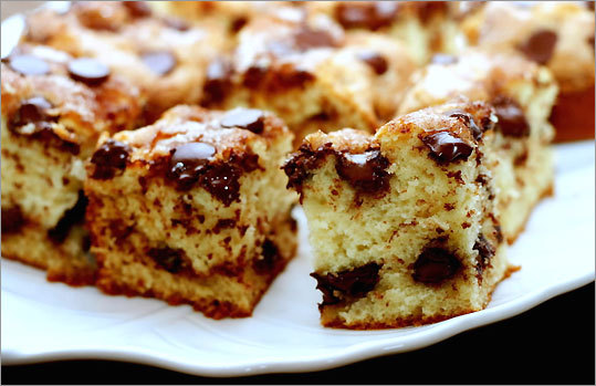 Chocolate-chip sour cream cake