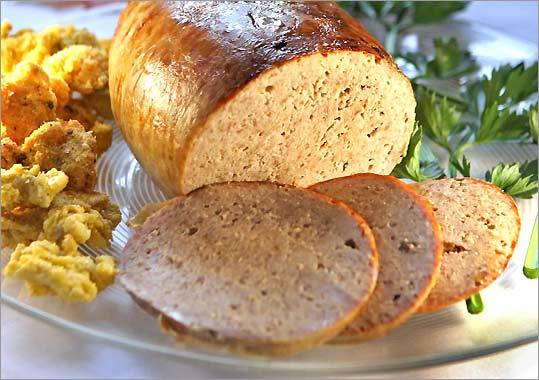 Oversize 'boudin blanc' sausage of wild turkey