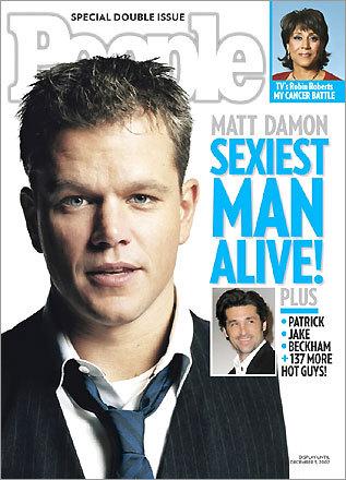 Matt Damon on the cover of People