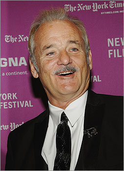 Funny man Bill Murray has sported a mustache in many roles, though it isn't part of his permanent look. Still, he was spotted with this push-broom at the New York Film Festival opening night premiere of 'The Darjeeling Limited' at Avery Fisher Hall in New York in 2007. <!-- // define variables var date = new Date(); var current_time = date.getTime(); // write SCRIPT tag to browser document.writeln(' '); // -->