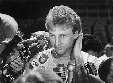 On the court, Larry Bird could seemingly do no wrong. On his lip, it's a different matter. Larry Legend's fondness for a light blond mustache never really seemed to catch on with fans. <!-- // define variables var date = new Date(); var current_time = date.getTime(); // write SCRIPT tag to browser document.writeln(' '); // -->